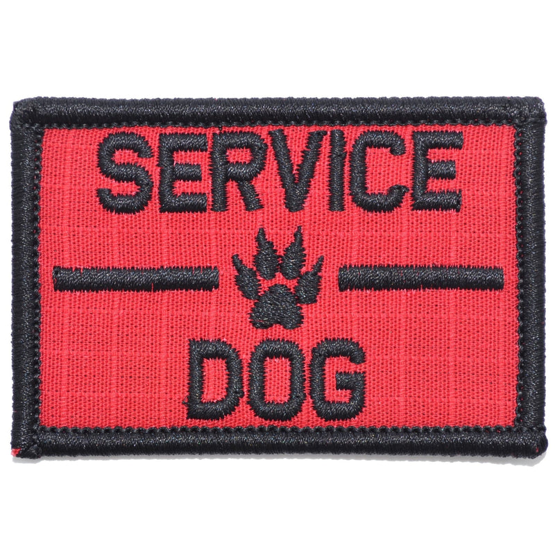 Tactical Gear Junkie Patches Red / Black Service Dog, K9 Dog Patch - 2x3 Patch