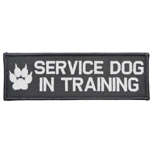 Service Dog, In Training - 2x6 Patch