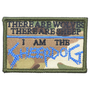There are Wolves, There are Sheep, I Am the Sheepdog - 2x3 Patch