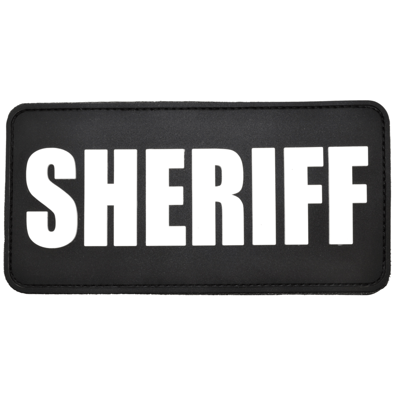 Tactical Gear Junkie Patches Black Sheriff Plate Carrier - 3x6 PVC Patch