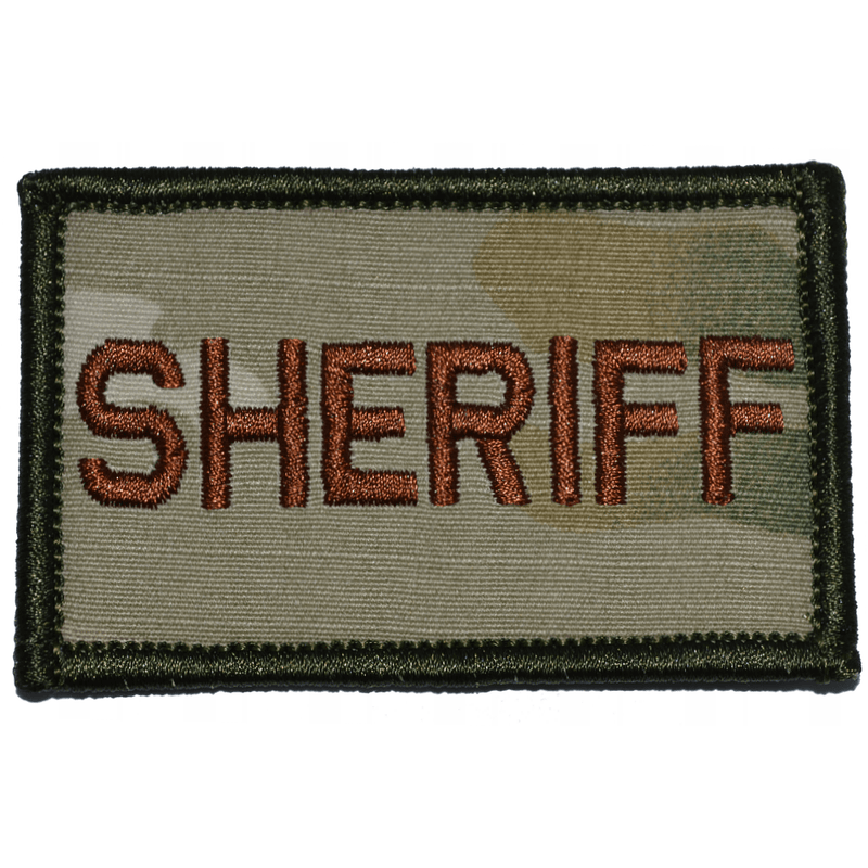 Tactical Gear Junkie Patches MultiCam w/ Spice Sheriff - 2x3 Patch