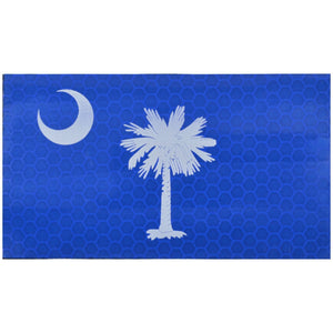 Reflective South Carolina State Flag - 2x3.5 Patch