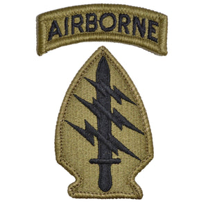 Special Forces Patch with Airborne Tab - OCP/Scorpion