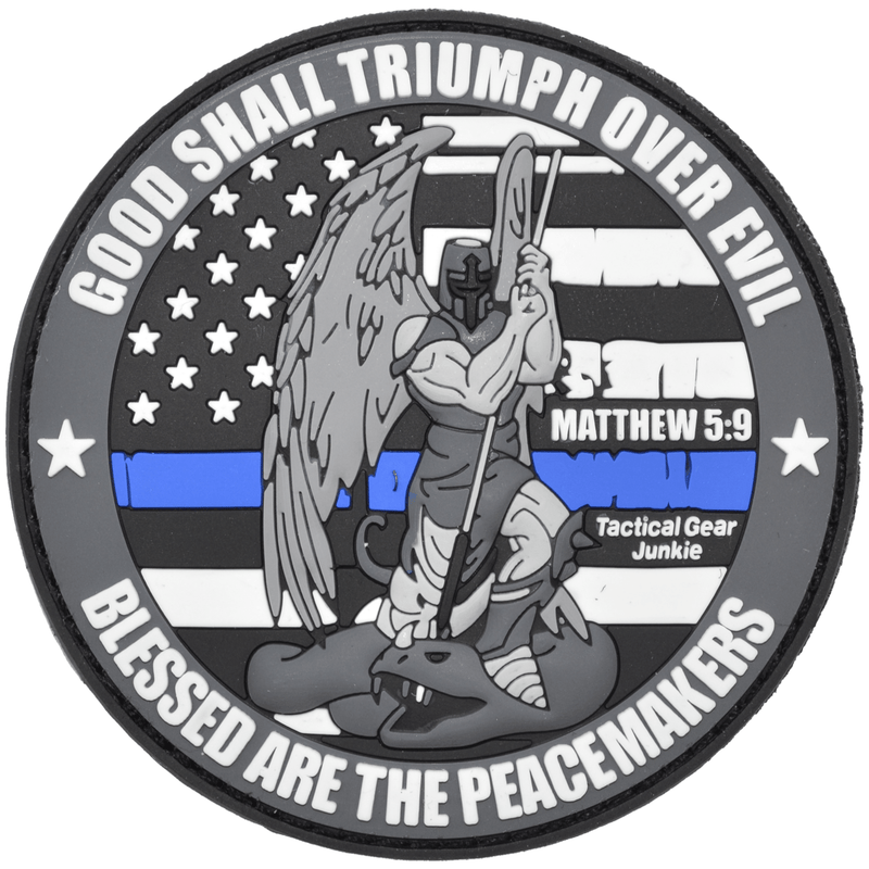Tactical Gear Junkie Patches SWAT Subdued Good Shall Triumph Over Evil Saint Michael  - 3 inch PVC Patch