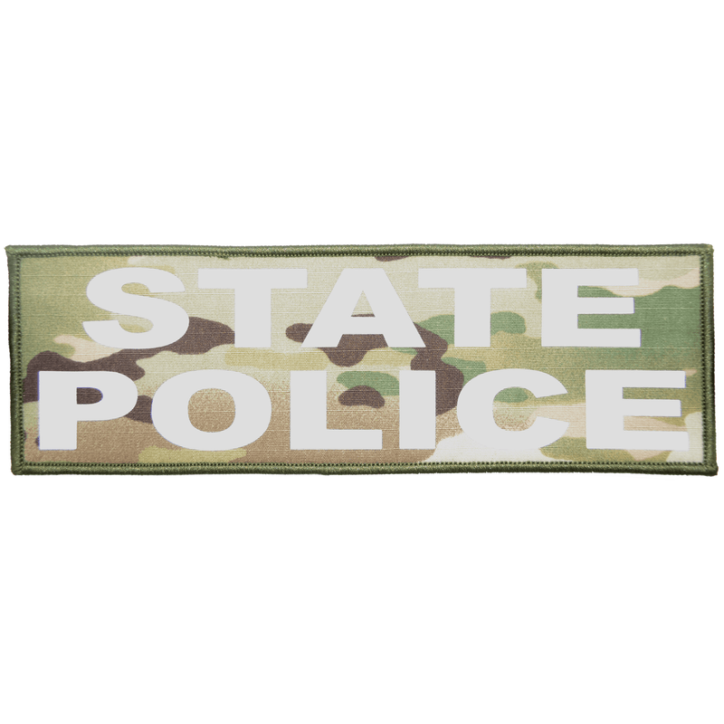 Tactical Gear Junkie Patches MultiCam State Police Reflective - 4x12 Patch