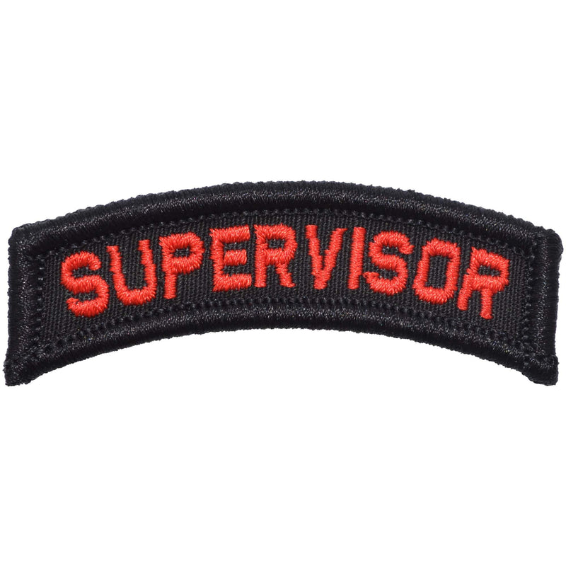 Tactical Gear Junkie Patches Black w/ Red Supervisor Tab Patch