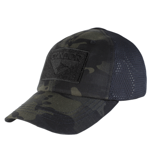 Condor Apparel Multicam BLACK Condor Tactical Operator Hat - Mesh Backed