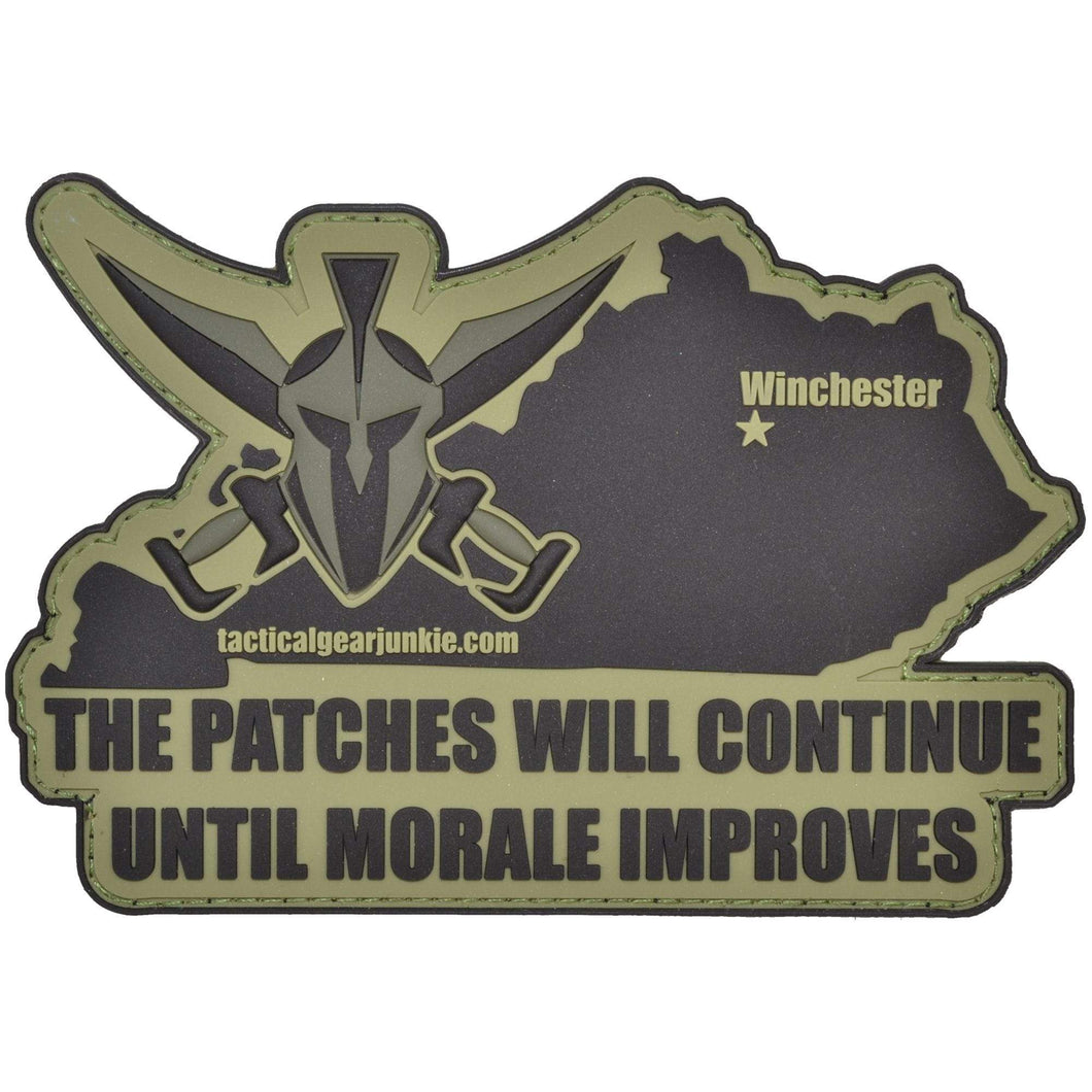 Tactical Gear Junkie Kentucky State Catchphrase - 3.5x5 inch PVC Patch