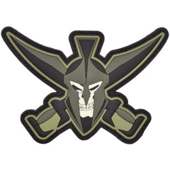Tactical Gear Junkie Spartan Head Skull Glow in the Dark - 2.75x4.25 PVC Patch