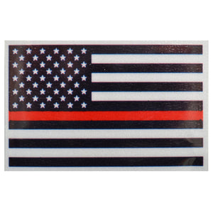 Reflective USA Flag Thin Red Line - 3.75x2.5 inch Sticker