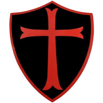 Knights templar cross sticker 3 75 inch