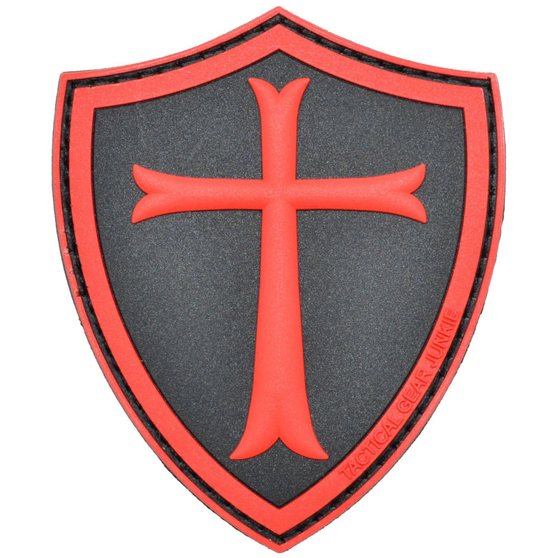 Templar Cross Shield - 2.5x3 PVC Patch