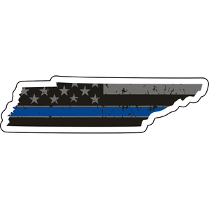 Distressed Thin Blue Line State Magnet - Choose Your State