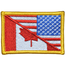Canada / USA Flag Reverse Facing - 2x3 Patch