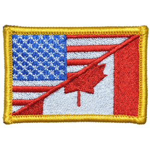 Canada / USA Flag Forward Facing - 2x3 Patch
