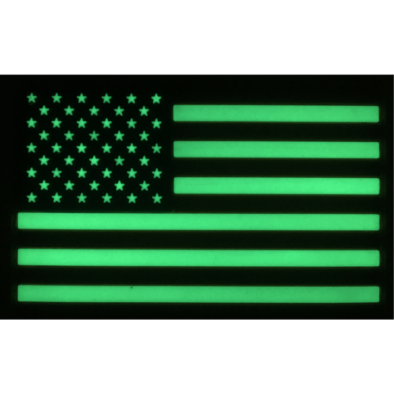 Tactical Gear Junkie Apparel Mesh Trucker Hat with Glow in the Dark USA Flag PVC Patch - Multiple Colors