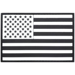 USA Flag Black - 2x3 PVC Patch