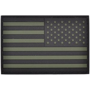 Reverse USA Flag Olive Drab - 2x3 PVC Patch