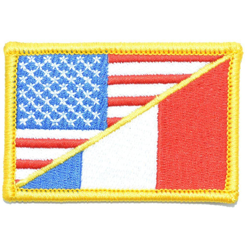 Tactical Gear Junkie Patches Full Color France / USA Flag - 2x3 Patch