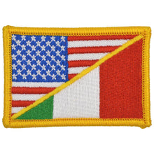Italy / USA Flag - 2x3 Patch