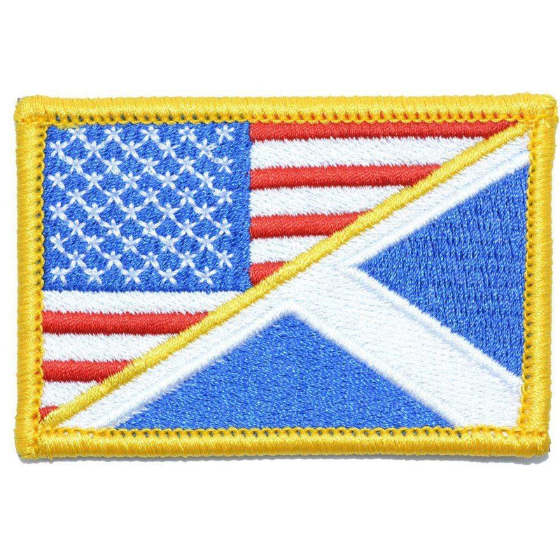 Tactical Gear Junkie Patches Full Color Scotland / USA Flag - 2x3 Patch