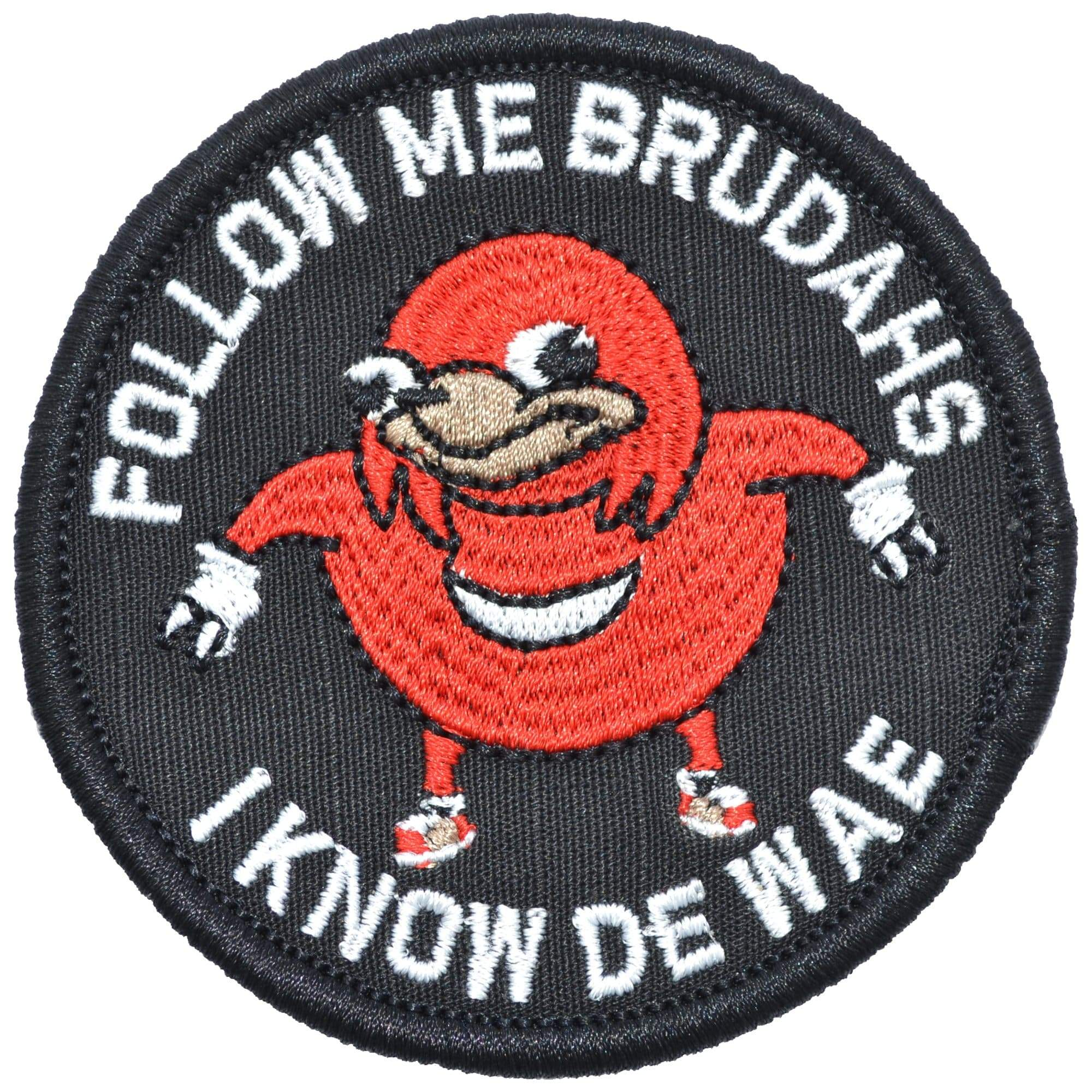 "Tactical Gear Junkie Patches Ugandan Knuckles ""Follow Me Brudahs I Know De Wae"" - 3 inch Round Patch"