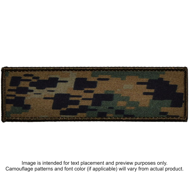 Tactical Gear Junkie Patches MARPAT Woodland Custom Plate Carrier Text Patch - 3x10