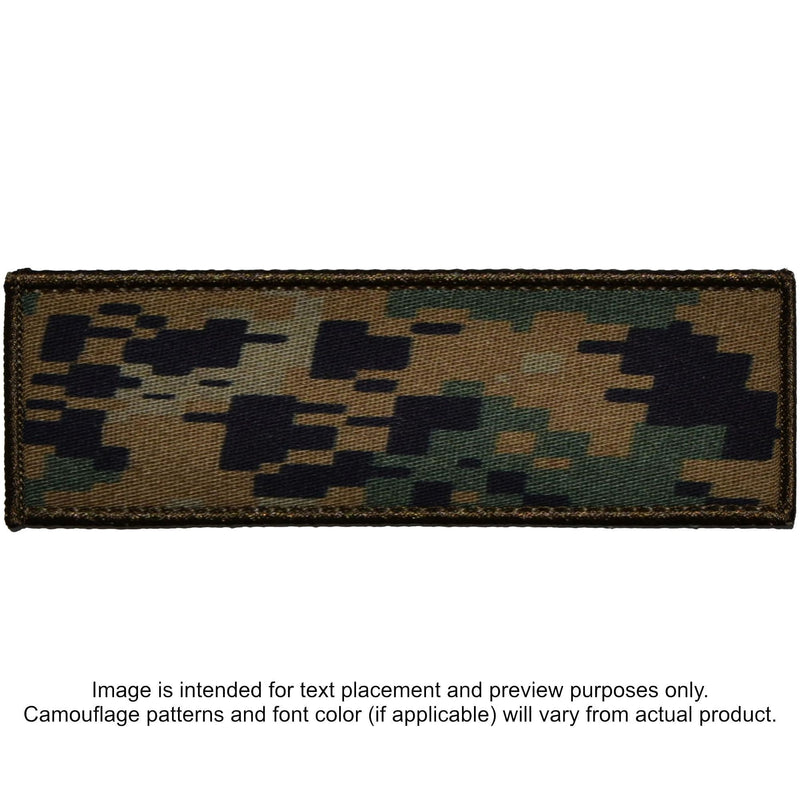 Tactical Gear Junkie Patches MARPAT Woodland Custom Plate Carrier Text Patch - 3x9