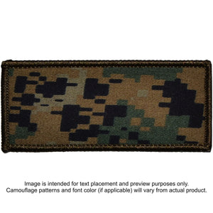 Custom Plate Carrier Text Patch - 4x9