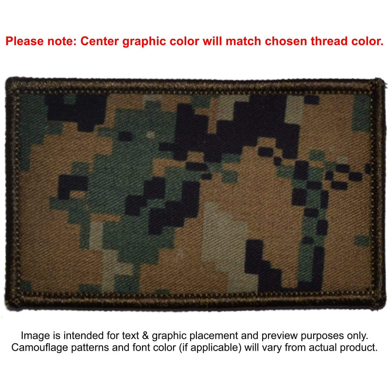 Tactical Gear Junkie Patches MARPAT Woodland Custom Made Combat Plate Carrier Flak Patch - Custom Image