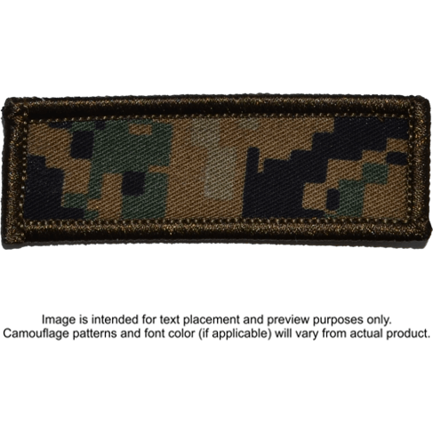 Tactical Gear Junkie Patches MARPAT Woodland Custom Text Patch - 1x3