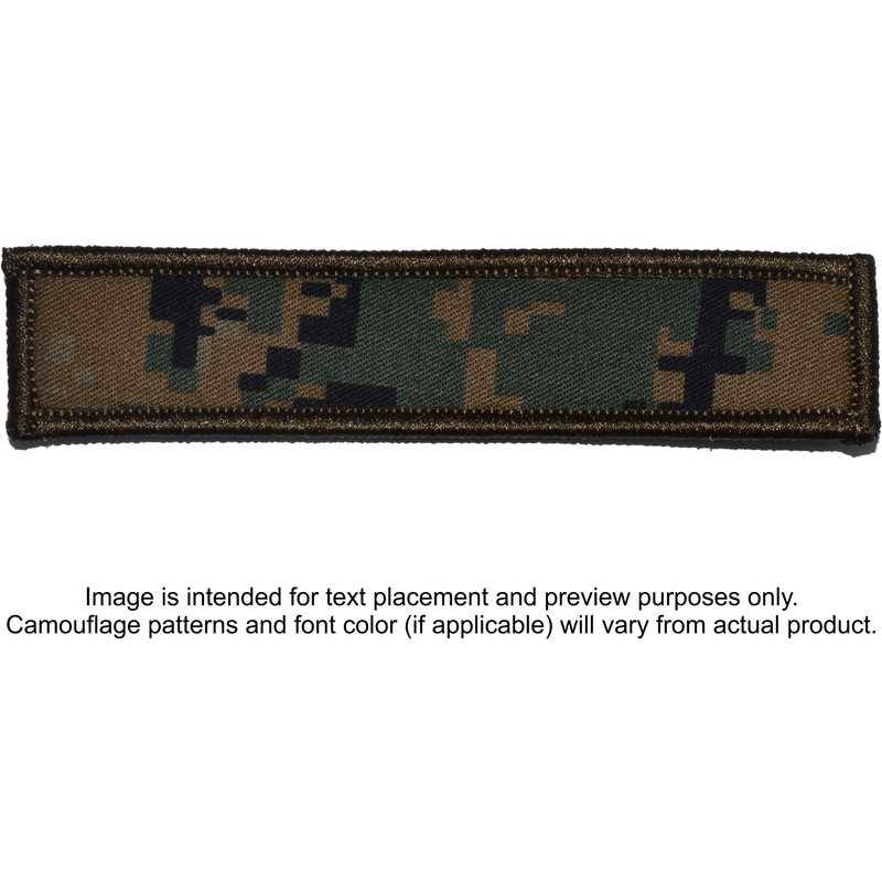 Tactical Gear Junkie Patches MARPAT Woodland Custom Text Patch - 1x5