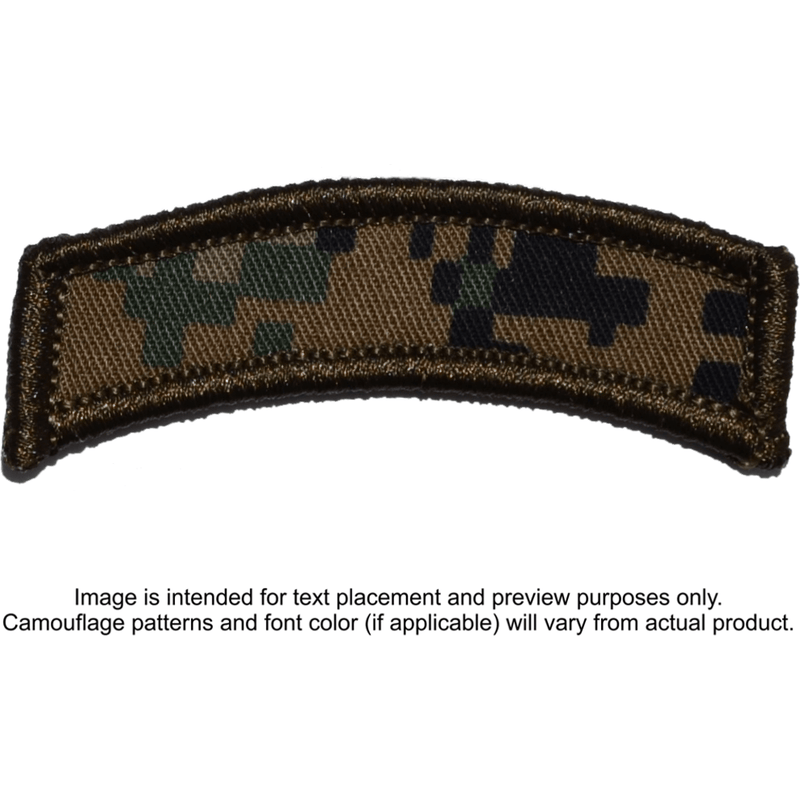 Tactical Gear Junkie Patches MARPAT Woodland Custom Text Patch - LARGE Tab