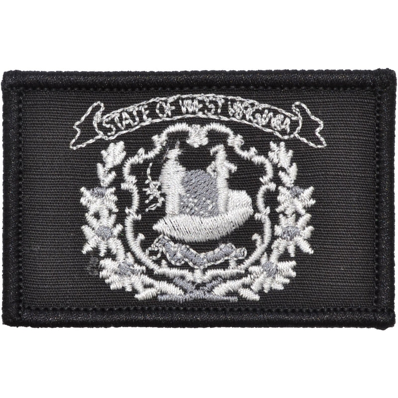 Tactical Gear Junkie Patches Black West Virginia State Flag - 2x3 Patch