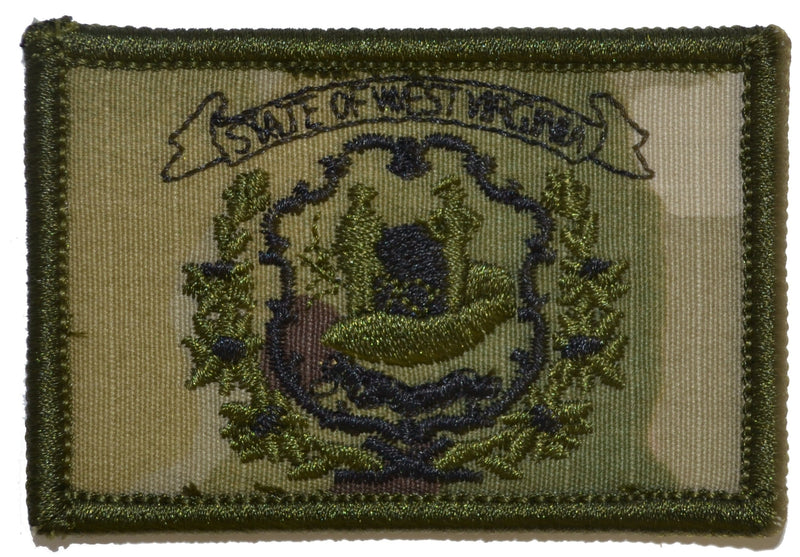 Tactical Gear Junkie Patches MultiCam West Virginia State Flag - 2x3 Patch