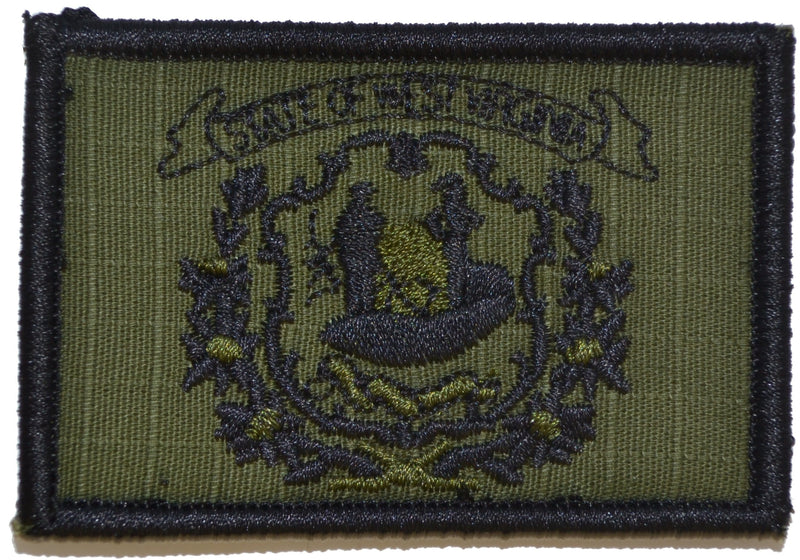 Tactical Gear Junkie Patches Olive Drab West Virginia State Flag - 2x3 Patch