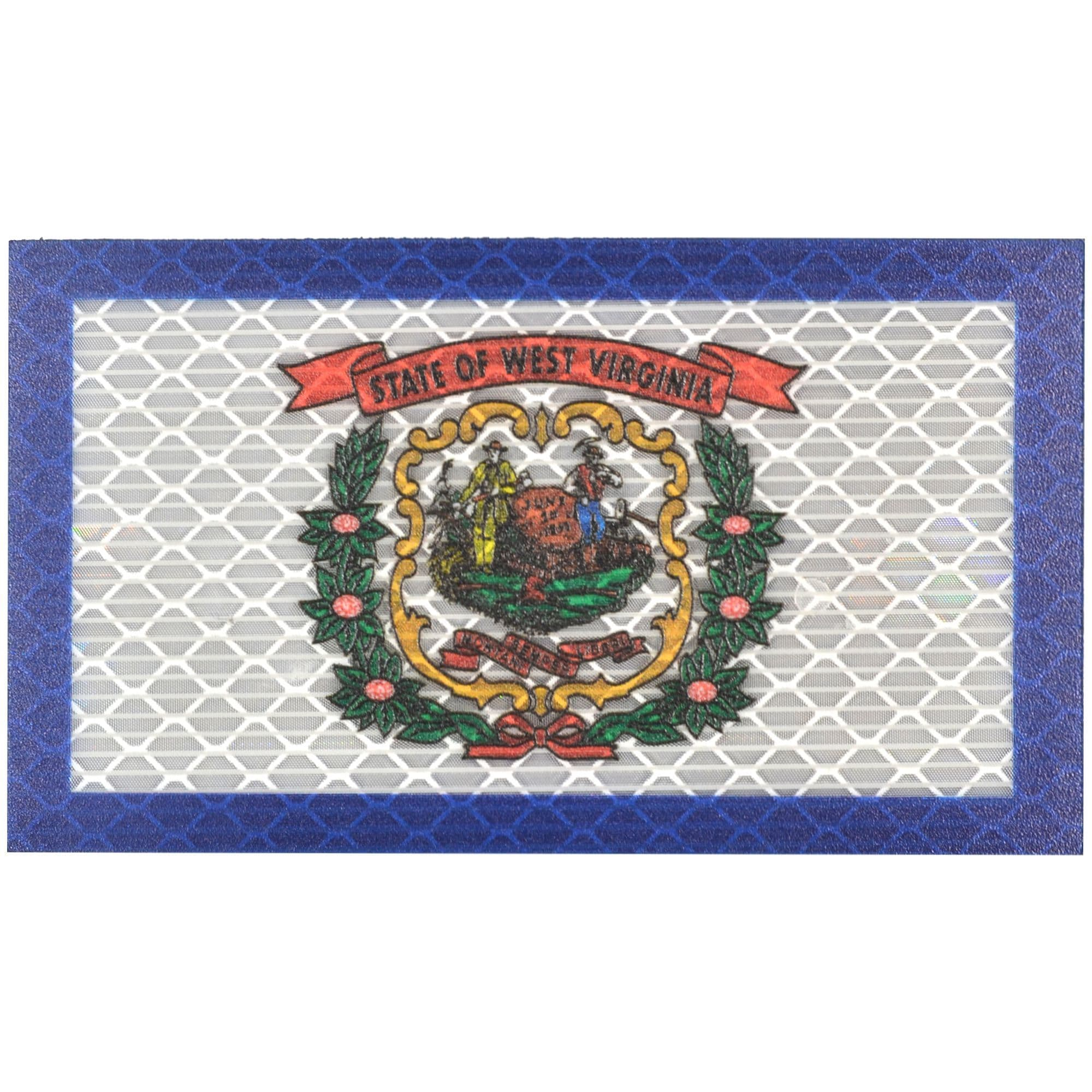 Reflective West Virginia State Flag 2x35 Patch Tactical Gear Junkie