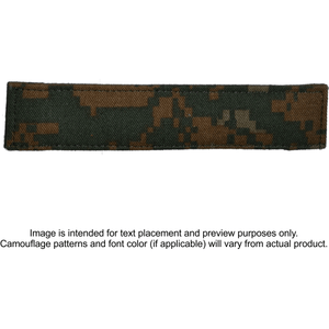 Single Custom Name Tape w/ Hook Fastener Backing - Woodland Marpat