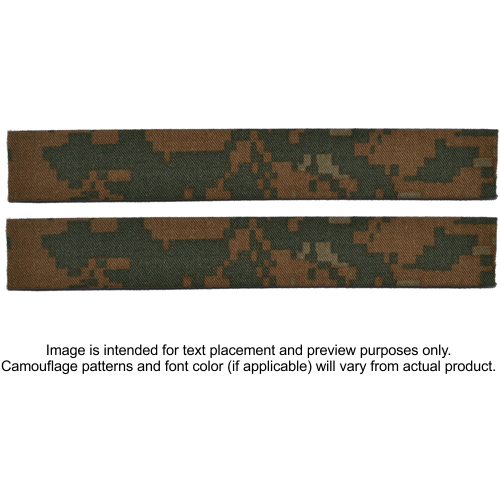 Tactical Gear Junkie Name Tapes 2 Piece Custom Name Tape Set - SEW ON - Woodland Marpat