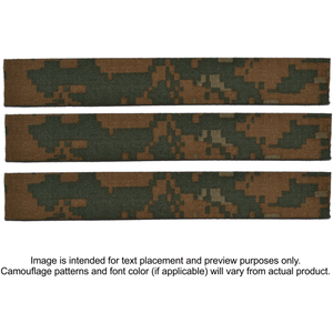 3 Piece Custom Name Tape Set - SEW ON - Woodland Marpat