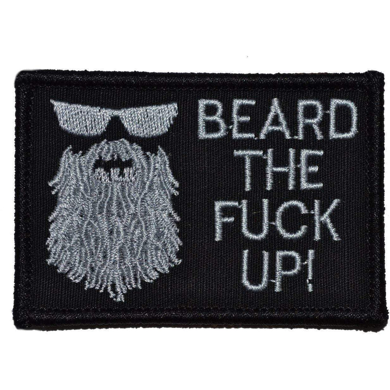 Tactical Gear Junkie Patches Black Beard the Fuck Up - 2x3 Patch