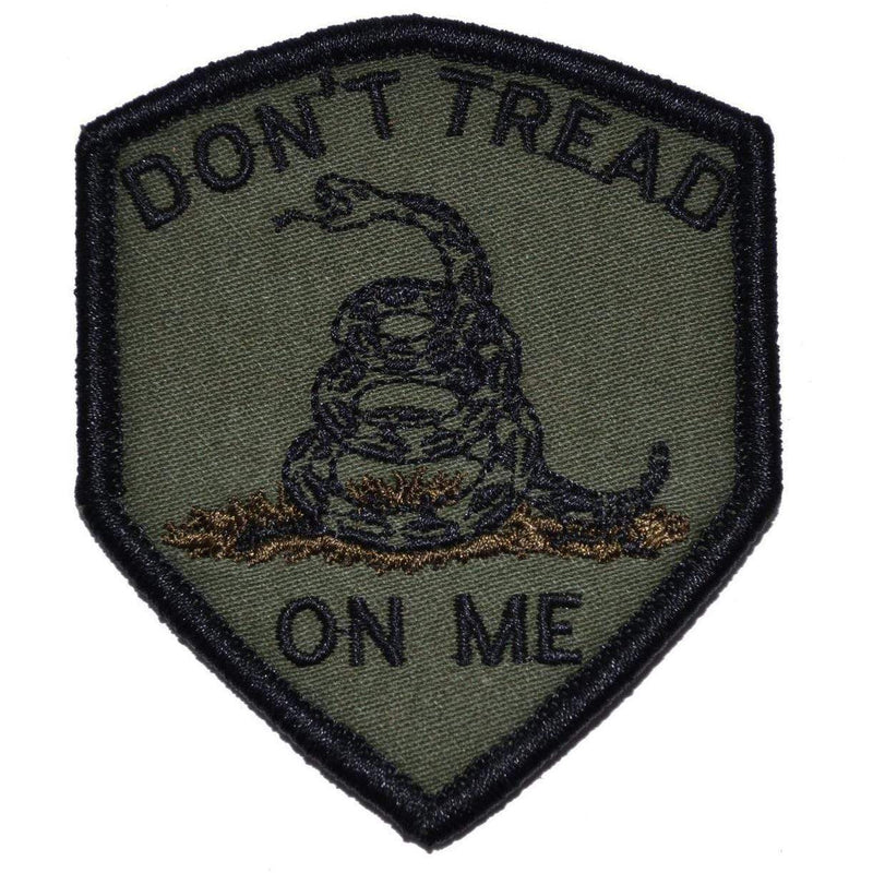 Tactical Gear Junkie Patches Olive Drab Don't Tread On Me Gadsden Snake - 2.5x3 Shield Patch