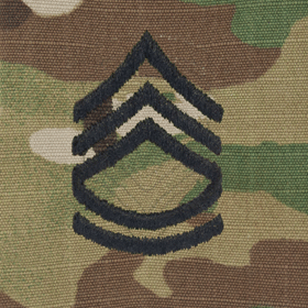 Tactical Gear Junkie Rank SFC Army Rank - SEW ON - OCP/Scorpion