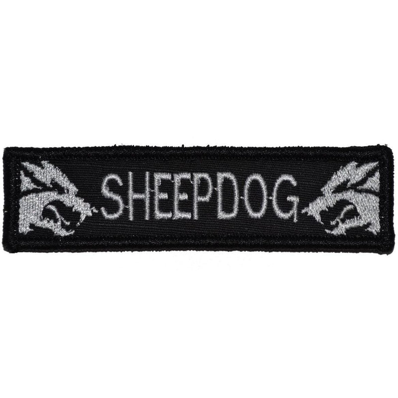 Tactical Gear Junkie Patches Black Sheepdog - 1x3.75 Patch