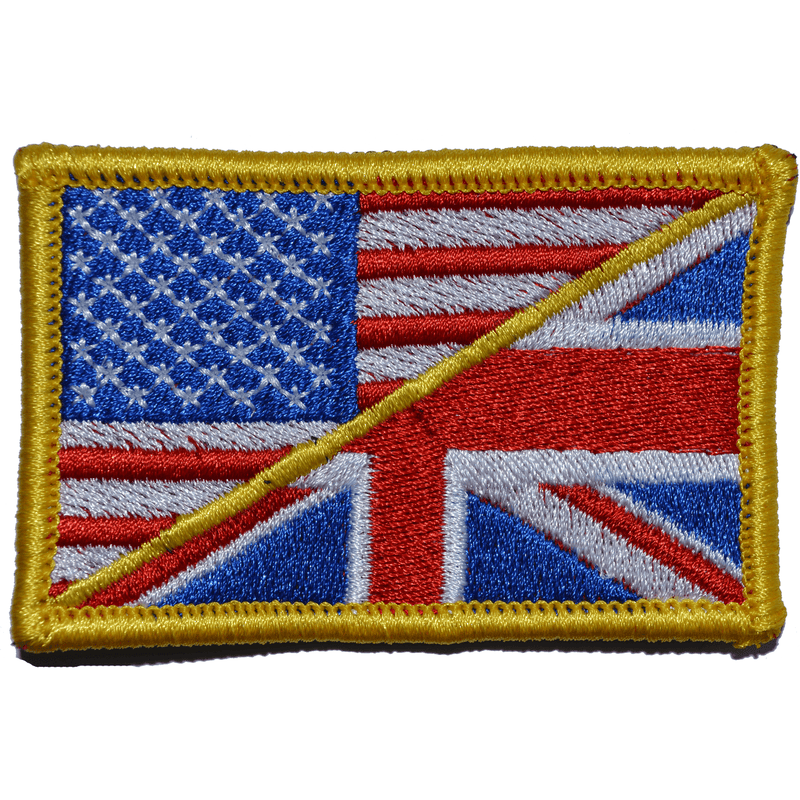 Tactical Gear Junkie Patches Full Color British Union Jack / USA Flag - 2x3 Patch
