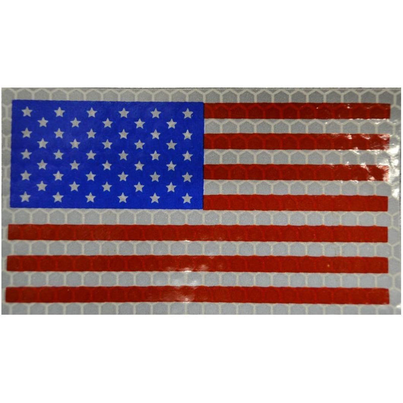 WarriorGlo Patches Reflective USA Flag, Forward Facing (Full Color) - 2x3.5 Patch