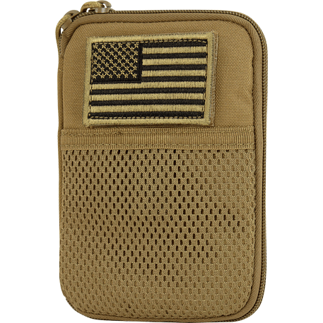 Condor Tactical Gear Coyote Brown Condor Pocket Pouch with US Flag Patch