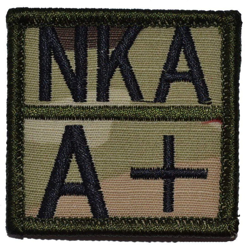 Tactical Gear Junkie Patches Blood Type and Allergy - 2x2 Patch