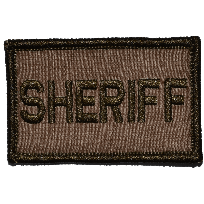 Tactical Gear Junkie Patches Coyote Brown Sheriff - 2x3 Patch