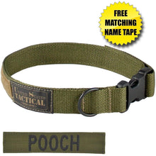 US Tactical Dog Collar with Quick-Release Buckle